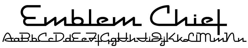 Emblem Chief Font