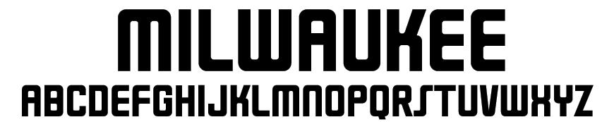 Milwaukee Font