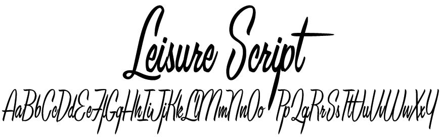 Leisure Script Font