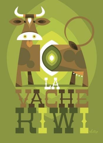 La Vache Kiwi Poster